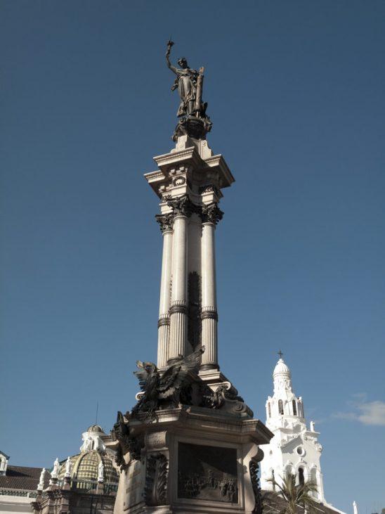 Quito fue Luz de América donde se dio la primera proclamación de independencia y este es el monumento conmemorativo