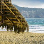 Cabañas en la playa de Puerto Lopez, Manabí